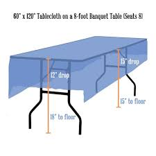What Size Tablecloth For 6ft Rectangular Table by Tablecloth Rentals Linen Sizing Chart