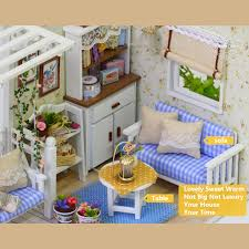 Sweet Coffee Shop France Style Diy Doll House 3d Miniature Cuteroom 1 24 Dollhouse Miniature Diy Kit With Led Light Cover
