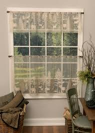 lodge hollow valance heritage lace