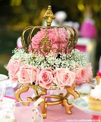 crown centerpieces pink princess tea party styled shoot celebrations at home