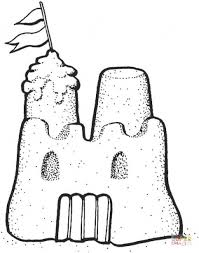 Sand Castle Coloring Page Free Printable Coloring Pages Sandcastle Coloring Page