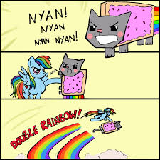 Nyan Cat Meme - image 37359 double rainbow x grab my grab my y meme nyan cat