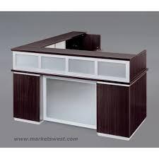 Reception Station Desk Pimlico Mocha Laminate Right Reception Station Desk