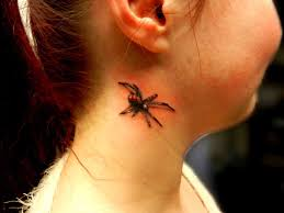 realistic spider secret ink tattoo