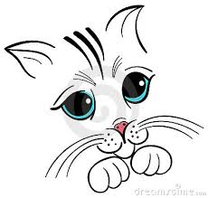 cute cat face drawing cliparts co