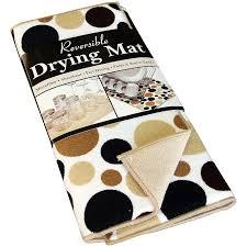 kitchen drying mat ritz dish drying mat reversible polka dot black