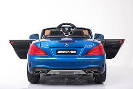 blue mercedes blue licensed mercedes benz sl65 amg coupe 12v electric kids