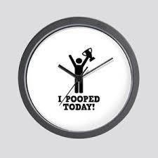 I Pooped Today Meme - i pooped today meme wall clocks cafepress