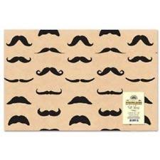 mustache wrapping paper accoutrements christmas wrapping paper ebay