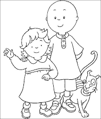 8 images caillou coloring sheets