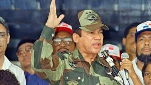 Manuel Noriega addresses a