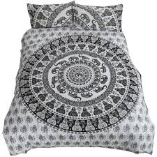 bedroom hippie duvet covers trippy tapestries boho bed sheets