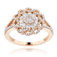ladies rings diamond images Fancy flower diamond ladies ring 0 77ct 14k gold jpg