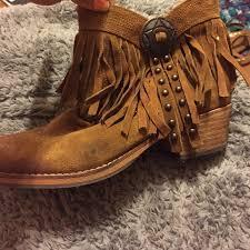 Brown Fringe Ankle Boots 77 Off Sam Edelman Boots Sam Edelman Brown Fringe Ankle Boots