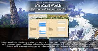 How To Use Minecraft Maps 1 7 10 Minecraft Worlds Mod The Ultimate World Generator Mods