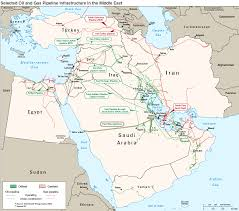 Middle East Maps by Oil And Gas Pipeline Infrastructure In The Middle East Includes