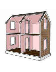 doll house plans for american or 18 inch dolls 5 room not