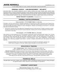 sample resume for law enforcement objective resume criminal