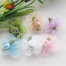 wedding supply 40pcs 1 1 8 organza ribbon flowers w wedding supply