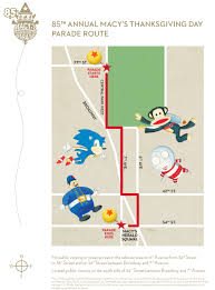 macy s thanksgiving day parade route map 2011 nyc