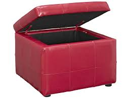 Leather Storage Ottoman Red Leather Storage Ottoman Home Design