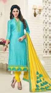 buy party wear yellow salwar suit with heavy dupatta online in