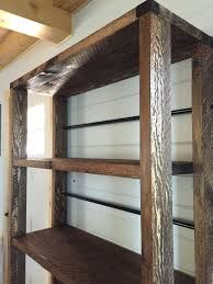 Free Wooden Shelf Bracket Plans by Ana White Reclaimed Wood Rolling Shelf Diy Projects