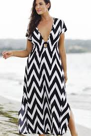 chevron maxi dress black white chevron print plunging v neck maxi dress casual