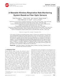 a wearable wireless respiration rate monitoring system based on