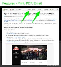 print pdf email by printfriendly u2014 wordpress plugins