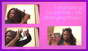 detangling marley hair 7 maintaing crochet hair my detangling process youtube