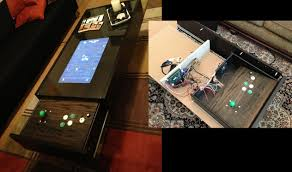 coffee table arcade hides its controls hackaday
