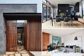 courtyard house designs this modern australian house wraps around a courtyard for indoor