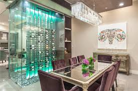 Table L Chandelier Las Vegas Velvet Dining Chairs Room Contemporary With Chandelier