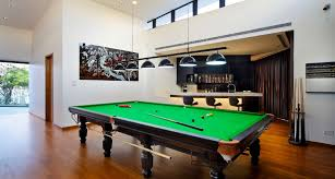 dazzling bumper pool table in family room asian with pool house