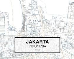 Map Of Jakarta Jakarta Dwg Mapacad