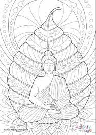 Vesak Activities For Kids Buddhist Coloring Pages