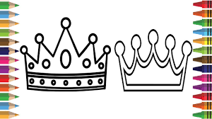 bad baby drawing crown with colors crown coloring pages for kids