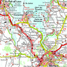Brittany France Map Brittany Mh512 Michelin 1 200k Maps Regional Michelin