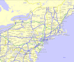 Map Of The Eastern United States by Overview Map Of Northeastern Usa Whitewater