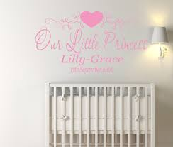 personalised our princess nursery girl s bedroom vinyl wall art personalised our princess nursery girl s bedroom vinyl wall art sticker