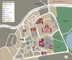 Boston College Map by Runner U0027s World Event Maps U2014 Claire Woodward