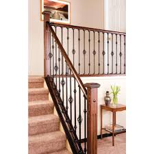 home interior railings stair simple axxys 8 ft stair rail kit axhsr8b32i the home depot