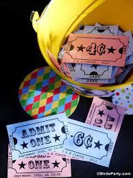 Circus Birthday Decorations Circus Carnival Birthday Party Printables Supplies Birdsparty Com
