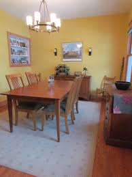 a craftsman dining room with benjamin moore hanna banana yellow