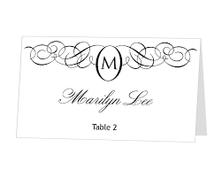 Table Card Template by Instant Download Avery Place Card Template Monogram Design By