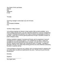 how to properly write a cover letter application letter sample