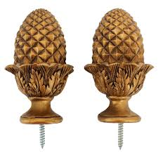 Decorative Curtain Finials Golden Acorn Curtain Finial Decoracion Pinterest Curtain
