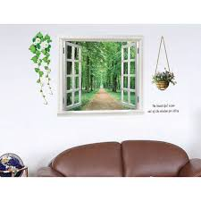 diy wall stickers 3d beautiful window view of forest alley addthis sharing buttons