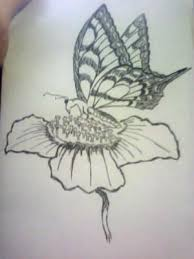 butterfly and flower drawing at getdrawings com free for personal